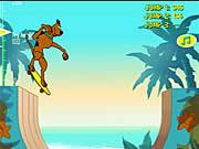 Scooby Doo`s Big Air-управление стрелками клавиатуры
